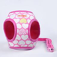 Cat / Dog Harness Adjustable/Retractable / Handmade / Soft Christmas White / Pink / Purple Fabric