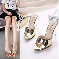 Feminino-Chinelos e flip-flops-ConfortoRoxo / Dourado-PVC-Casual