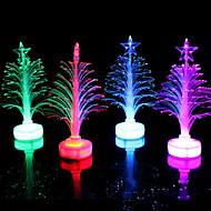 száloptikás karácsonyfa vezetett színesebb kis karácsonyfa véletlenszerű szín