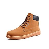 Bootsit-Tasapohja Platform-Miesten-Mokkanahka-Sininen Ruskea Khaki-Ulkoilu Rento-Platform