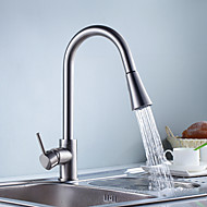 Contemporary Kitchen faucet Pullout Spray Nickel Brushed