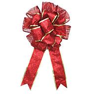 1kpl punainen suuri joulukoristeita käsityönä kaksikerroksinen christmas perhonen kimpussa