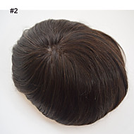 Mens Toupee 8x10 Men Real Hair Mono Based PU Around Invisible mono based straight breathable natural hairline