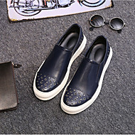 Men's Loafers & Slip-Ons Fall Winter Comfort Leather Casual Platform Others Black Blue Others