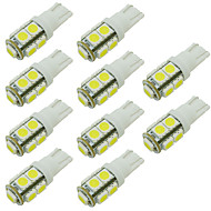 W5W 168 194 T10 9 SMD Led Car Bulb for Reading/Side Marker/Door Light Warm/Cool Whie 12V DC (10 Pieces)
