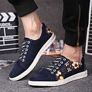 Men's Sneakers Spring Fall Comfort Suede Casual Flat Heel Lace-up Blue Gray Burgundy