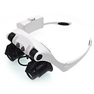 虫眼鏡 ヘッドセット 10x、15x、20x、25xX標準 ジュエリー 一般用途向け 読書 時計修理 機器&ツール