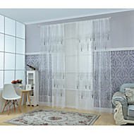 Et panel Vindue Behandling Moderne Stue Poly / bomuldsblanding Materiale Sheer Gardiner Shades Hjem Dekoration For Vindue