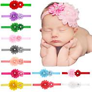 24pcs / комплект младенца девушки потрепанный цветок оголовье с слоем flowre todder аксессуары для волос младенца Hairband
