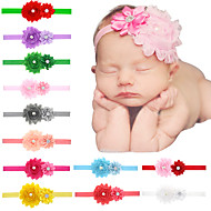24pcs / set bebés flor gasto cabeça com flowre camada todder hairband acessórios de cabelo infantil
