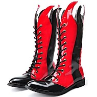 Men's Boots Spring / Fall / Winter Comfort Patent Leather Party & Evening / Casual Black / Red