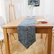 מלבני מעוטר ראנר לשולחן , זמש חוֹמֶר שולחן אוכל במלון / שולחן Dceoration