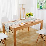 עגול / מלבני מעוטר ראנר לשולחן , תערובת כותנה חוֹמֶר שולחן אוכל במלון / שולחן Dceoration