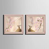 E-HOME® Framed Canvas Art Vases And Birds Framed Canvas Print Set Of 2