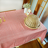 Square Gingham Table Cloth , Linen / Cotton Blend Material Hotel Dining Table / Table Decoration / Dinner Decor / Home Decoration
