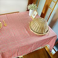 ריבוע משבצות כיסויי שולחן , פשתן / כותנה מעורבת חוֹמֶר שולחן אוכל במלון / שולחן Dceoration / בעד ארוחת הערב דקור / עיצוב הבית