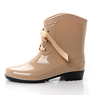Women's Boots Rubber Summer Outdoor Black Ruby Almond Light Brown Under 1in