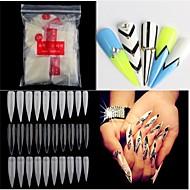 500pcs naakt witte valse nail art tips french acryl uv salon nail art gereedschappen