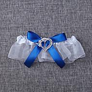 Harisnyakötő Organza Masni Fehér Kék