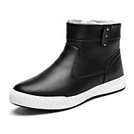 Støvler-PU-Komfort-Herre-Sort Blå Rød-Fritid-Flad hæl