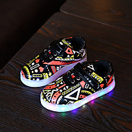 LED Light Up Shoes, Boy's Sneakers Fall Winter Comfort Leatherette Casual Flat Heel Magic Tape Yellow Green Others