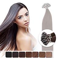 neitsi 20 '' / lote 1 g / s pré reta ligado u prego fusão ponta extensões de cabelo humano 50g