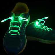 LED Light Up Wearable Shoelaces for PVC Blue Yellow Green Pink Red Orange