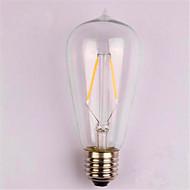 2W E26/E27 LED filament žarulje ST58 2 SMD 2835 200 lm Toplo bijelo Ukrasno AC 220-240 V 1 kom.