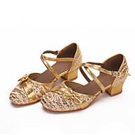 Sapatos de Dança(Vermelho / Prateado / Dourado) -Infantil-Personalizável-Moderna