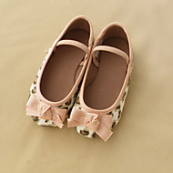 Girl's Flats Fall Ballerina Canvas Casual Flat Heel Buckle Pink Others