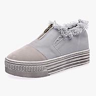 Dame-Syntetisk-Lav hæl-Komfort-一脚蹬鞋、懒人鞋-Fritid-Blå Beige