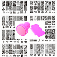 10ks nail art těsnění šablona hřebík krajkové pattren dát 1 sada nářadí těsnění 12x6cm