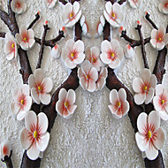 Blumen / Art Deco / 3D Tapete Für Privatanwender Zeitgenössisch Wandverkleidung , Leinwand Stoff Klebstoff erforderlich Wandgemälde ,