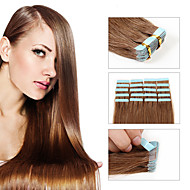20pcs / lot virgin indian włosy rozszerzenia pu skóry klej taśma włosy wątek kranu włosów uwalnia statek różnych kolorów włosów ludzkich