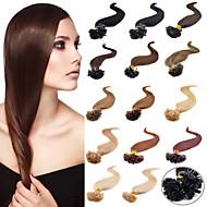 u tip nehty pre-vázané fúze prodlužování vlasů keratin nehtů tip panna brazilský lidský vlas 0,5 g / s 100 g / ks 1ks / lot
