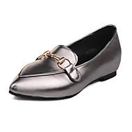 Kényelmes-Lapos Tipegők-Női cipő-Lapos-Esküvői Irodai Ruha Alkalmi-Személyre szabott anyagok Bőrutánzat-Rózsaszín Szürke Ezüst
