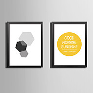 E-HOME® Framed Canvas Art Graphics and Letters Theme Series Framed Canvas Print One Pcs