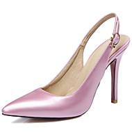 Feminino-Saltos-Chanel D'Orsay-Salto Agulha-Preto Rosa Vermelho Rosa Claro-Courino-Casamento Social Festas & Noite