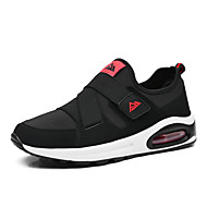 Women's Athletic Shoes Spring Fall Comfort PU Outdoor Athletic Flat Heel Magic Tape Black Red White