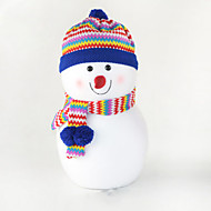 """30CM/12"""" Christmas Decoration Gift Standing Snowman Doll Plush Toy New Year Gift"""