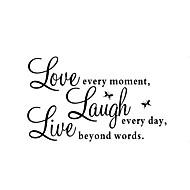 zooyoo® vyměnitelné barevné roztomilé slova milovat Live Laugh 3d zeď samolepky domova samolepky na zeď pro děti / obývací pokoj