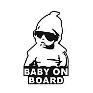 15 * 9cm / viileä vauva aluksella auto tarra moottoripyörän tarra