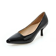 Women's Heels Spring Summer Fall Comfort Novelty Patent Leather Leatherette Wedding Office & Career Dress Casual Party & EveningKitten