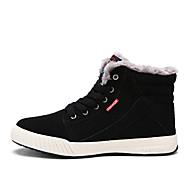 Bootsit-Tasapohja-Miesten-PU-Musta Sininen Vihreä-Ulkoilu-Comfort