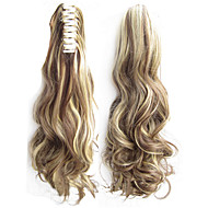 Angelaicos Women Long Wavy Black Brown Blonde Party Natural Sexy Hairpiece Claw Clip on Hair Extension Ponytail Wig