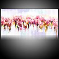 Håndmalte Abstrakt Blomstret/Botanisk olje~~POS=TRUNC malerier~~POS=HEADCOMP,Moderne Parfymert Et Panel Lerret Hang malte oljemaleri For