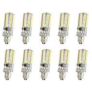 5W E14 E12 E11 Декоративное освещение T 64 SMD 3014 380 lm Тёплый белый Холодный белый Регулируемая AC220 V 10 шт.
