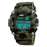 SKMEI Masculino Relógio Esportivo Relógio Militar Relógio de Pulso LED Calendário Cronógrafo Impermeável alarme Cronômetro Noctilucente