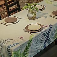 Rond Carré Rectangulaire Avec motifs Nappes de table , Lin Matériel Tableau Dceoration 1pc/set