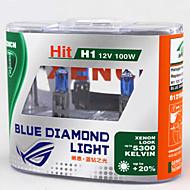 XENCN H1 12V 100W 5300K Xenon Blue Diamond Light Car Headlight UV Filter Halogen Super White HeadLamp